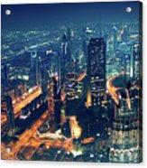 Panoramic View Of Dubai City Acrylic Print
