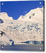Panoramic View Of Glaciers And Iceberg Acrylic Print