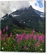 Panoramic View Of 'going To Sun Road' Acrylic Print