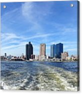 Panoramic View Of Kaohsiung City Waterfront Acrylic Print
