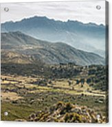 Panoramic View Of Monte Grosso And The Mountains Of Corsica Acrylic Print