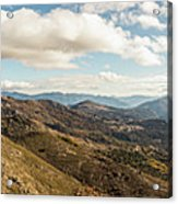 Panoramic View Of Olmi Cappella Valley With In Corsica Acrylic Print