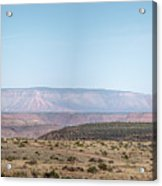 Panoramic View Of Open Desert Field In Nevada With Grand Canyon  Acrylic Print