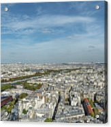 Panoramic View Of Paris From The Top Of The Tower Acrylic Print