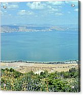 Panoramic View Of The Sea Of Galilee Acrylic Print