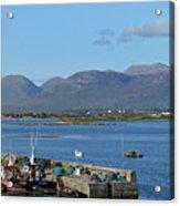 Panoramic View Roundstone Harbour Acrylic Print