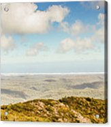 Panoramic Views From Mount Zeehan To Trial Harbour Acrylic Print