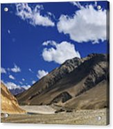 Panrama Of Mountains Ladakh Jammu And Kashmir India Acrylic Print