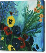 Pansies And Poise Acrylic Print
