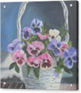 Pansies For A Friend Acrylic Print