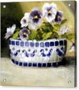 Pansies Acrylic Print by Lenore Gaudet