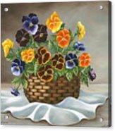 Pansy Basket Acrylic Print