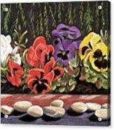 Pansy Palette Acrylic Print
