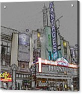 Pantages Theater Hollywood Acrylic Print