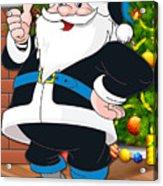 Panthers Santa Claus Acrylic Print