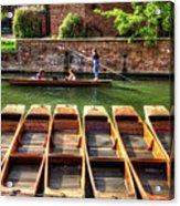 Panting In Cambridge Acrylic Print