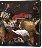 Pantry Scene With Servant By Frans Snyders Acrylic Print