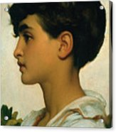 Paolo Acrylic Print by Frederic Leighton