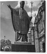 Papa Juan Pablo II - Mexico City Byn Acrylic Print