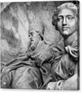 Papal Statues Inside St Peter's Basilica Acrylic Print