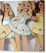 Paper Doll Acrylic Print