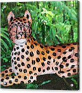 Paper Mache Leopard Acrylic Print