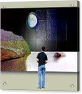 Paper Moon Acrylic Print