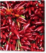 Paprika Peppers At A Market Stall. Acrylic Print