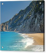 Paradise Beach With Blue Waters Acrylic Print