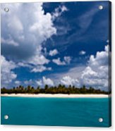 Paradise Is Sandy Cay Acrylic Print by Adam Romanowicz