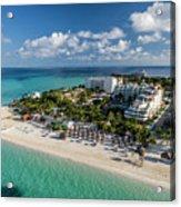 Paradise - Isla Mujeres - Playa Norte, Aerial Image Acrylic Print