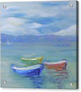 Paradise Island Boats Acrylic Print