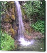 Waterfall In Spring Paradise Cove Winslow Illinois Acrylic Print