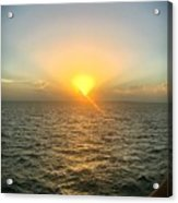 Paradise Sunset Oasis Acrylic Print