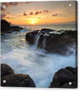 Paradise Sunset Splash Acrylic Print