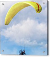Paraglider Floating In The Clouds Acrylic Print