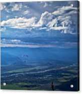 Paragliding Above Jackson Hole Acrylic Print