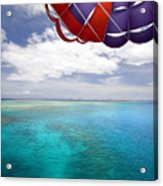 Parasail Over Fiji Acrylic Print by Dave Fleetham - Printscapes