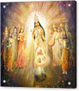 Parashakti Devi - The Great Goddess In Space Acrylic Print