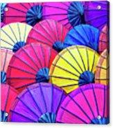 Parasols Acrylic Print