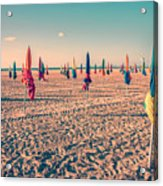 Parasols Of Deauville Acrylic Print