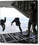 Paratroopers With The Spanish Military Acrylic Print