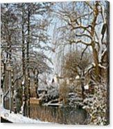 Walk In A Snowy Park Acrylic Print