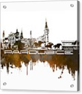 Pardubice Skyline City Brown Acrylic Print