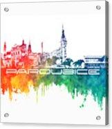 Pardubice Skyline City Color Acrylic Print