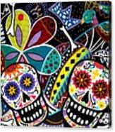 Pareja Dia De Los Muertos Acrylic Print