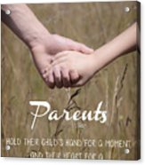 Parents For A Lifetime Acrylic Print