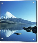 Parinacota Volcano Reflections Chile Acrylic Print