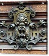Paris - 19th Century Brass Door Knocker Acrylic Print