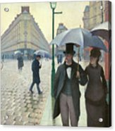 Paris A Rainy Day - Gustave Caillebotte Acrylic Print